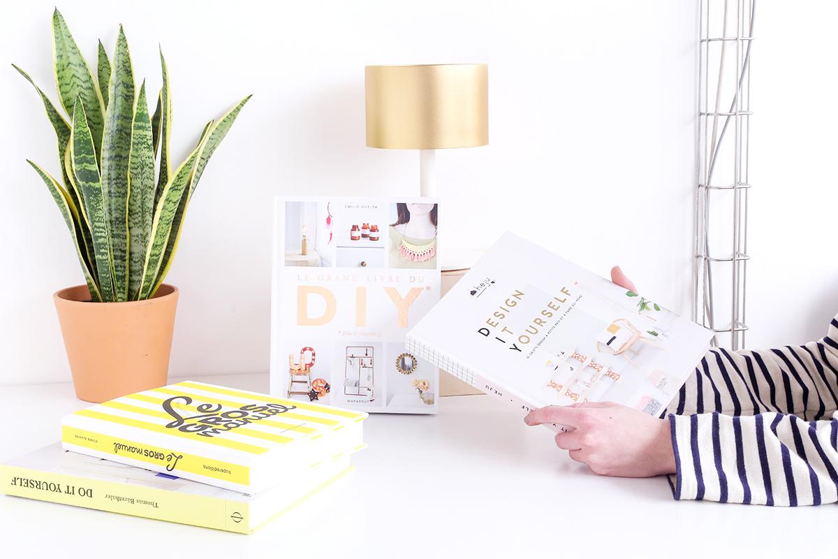 Découvrez notre sélection de livres DIY, 100% design et déco, pour se lancer dans le do it yourself, apprendre les bases et réaliser de beaux objets.
