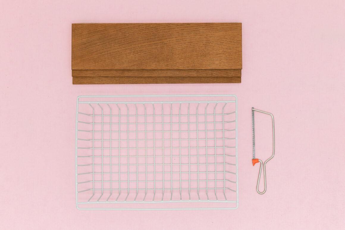 DIY Studio ADC pour Le Bon Coin - étagère string pocket à partir d'un casier en métal. Upcycling, design, do it yourself