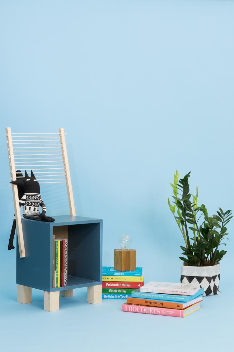 DIY Studio ADC pour Le Bon Coin - fauteuil en corde pour enfant à partir d'un caisson IKEA. Upcycling, design, do it yourself