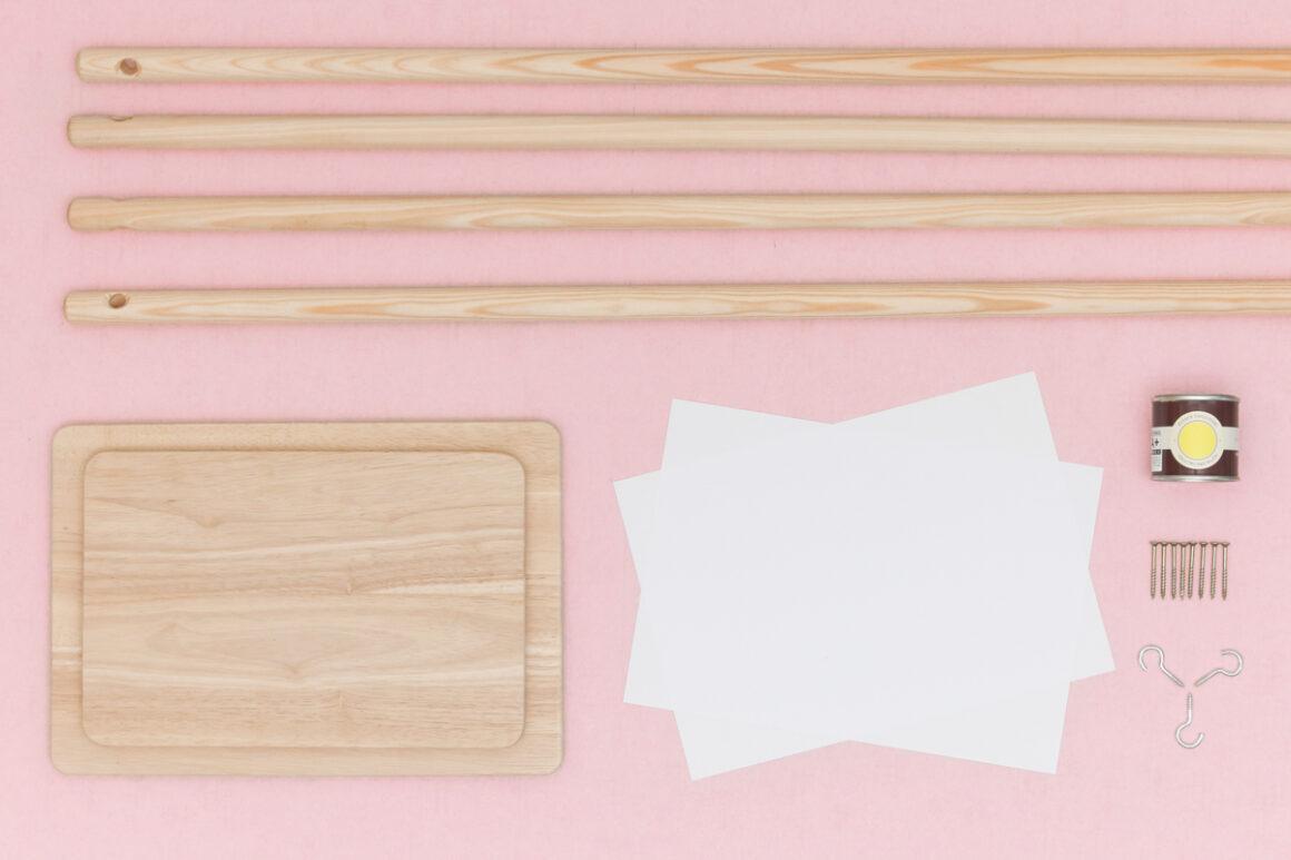 DIY Studio ADC pour Le Bon Coin - Rangement pour entrée à partir de deux planches à découper. Upcycling, design, do it yourself
