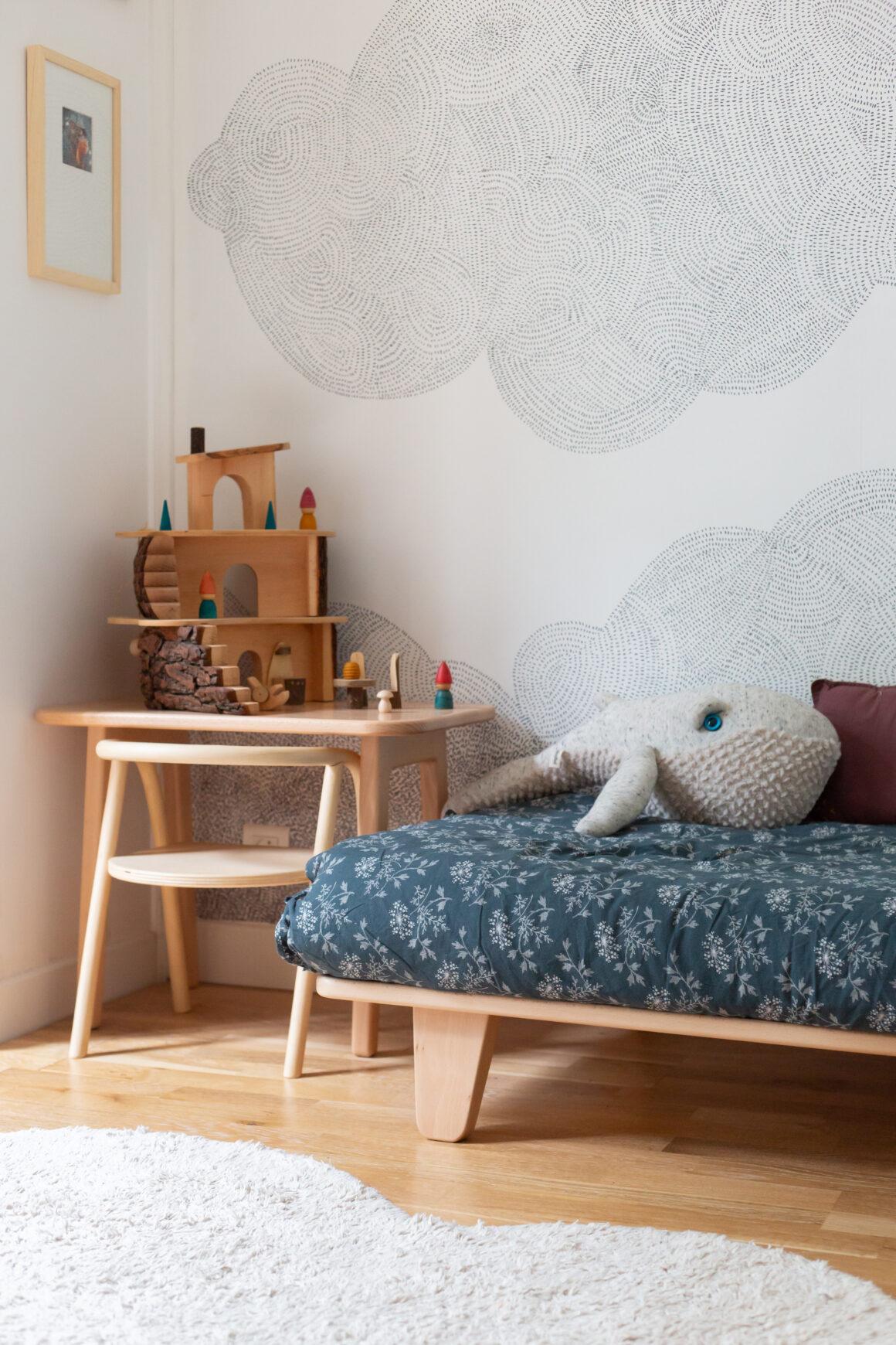Décorer à une chambre d'enfant de manière éco-responsable avec le papier peint d'exception sur mesure et made in France Bien Fait Paris